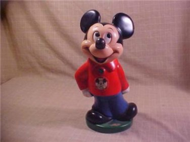 VINTAGE DISNEY MICKEY MOUSE CLUB RUBBER BANK