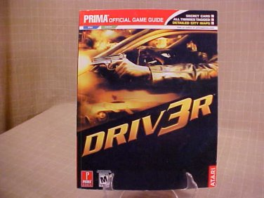 2004 DRIV3R PRIMA OFFICIAL GAME GUIDE BOOK PS2 & X BOX
