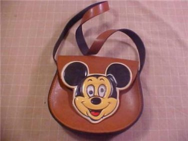 VINTAGE DISNEY MICKEY MOUSE LEATHER CHILD PURSE