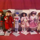 1991-93 AVON CHILDHOOD DREAMS PORCELAIN DOLL LOT OF 6