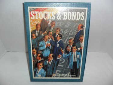 Vintage 1964 3M Stocks & Bonds Stock Market Bookshelf Game
