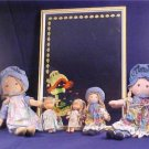 LOT OF VINTAGE HOLLY HOBBIE DOLLS & WALL MIRROR