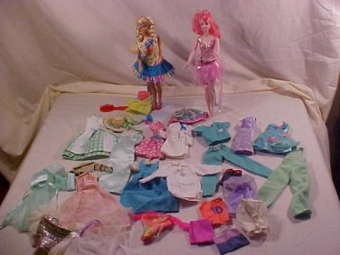 VINTAGE LOT OF 1960'S up to the 80's BARBIE DOLLS & CLOTHING