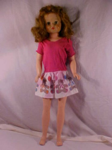 "VINTAGE HIGH HEEL FEET DOLL 29"" TALL"