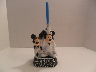 """Star Wars Mickey Mouse Bank 2009 Lucasfilm Disney 11 1/2"""""""