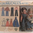 1975 Carefree Patterns McCall's #4716 Doll's Clothes Pattern