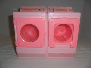 Mattel Barbie 1990 Laundry Center Washer & Dryer Combo - Spins Clothes Works