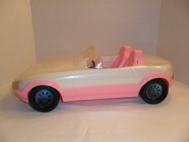 1993 Pink and White CONVERTIBLE CRUISIN CAR Mattel