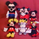 LOT OF 6 DISNEY PLUSH TOYS MICKEY MOUSE & MORE