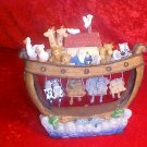 MUSICAL LIGHTED NOAH'S ARK FIGURINE