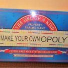1998 The One Of A Kind Make Your Own Opoly Board Game MIB