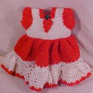 HANDMADE BABY DOLL CROCHET STRAWBERRY DRESS