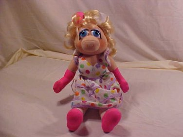 "1993 MISS PIGGY DOLL MUPPETS 16"" TALL"