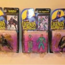 MIB Lot Of 3 Kenner Legends of Batman with Trading Card