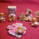 LOT OF ENESCO COLLECTABLE FIGURINES & EARRING SET
