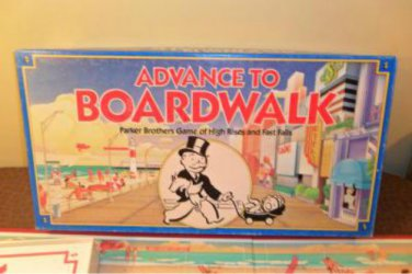 1998 Advance To BoardWalk Board Game Complete