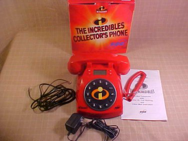 2004 MIB DISNEY THE INCREDIBLES TELEPHONE CALLER ID SBC