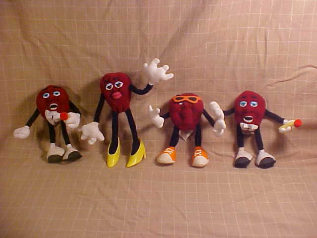 LOT OF 1988 CALIFORNIA RAISIN BY APPLAUSE TOYS