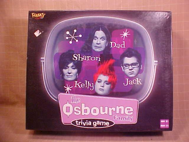 2002 THE OSBOURNE TRIVIA BOARD GAME COMPLETE
