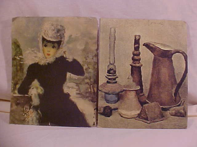 ESTATE VINTAGE ANTIQUE SET OF 2 WALL PRINTS 8 X 10