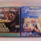 LOT OF 2 VCR GAMES 221 BAKER STREET/PREDICAMENTS