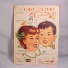 VINTAGE MY FIRST PICTURE DICTIONARY BOOK