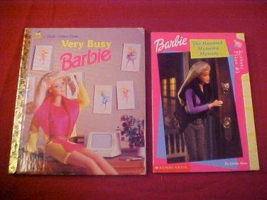 LOT OF 2 BARBIE BOOKS