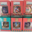Lot of 7 Disney Holiday Ornaments Santa Work Shop & It's a Small World Holiday 1994