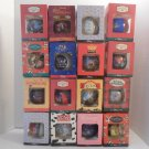 1090's Lot Of 15 Disney Store Christmas Ornaments MIB