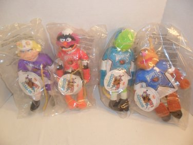 1995 Lot of 4 McDonald's Muppets NHL Hockey Players Dolls MIP