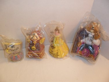 Lot Of 4 1992 DISNEY BEAUTY AND THE BEAST MIP