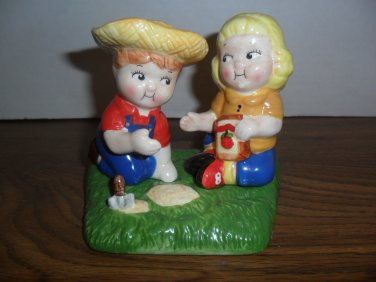 Vintage Campbell Soup Kids Salt And Pepper Farmers