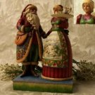 """Jim Shore """"Mr. and Mrs. Claus with Cookie Tray"""""""