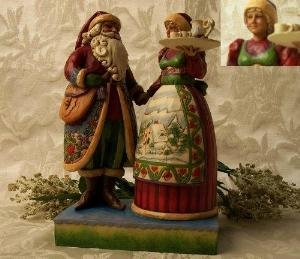 "Jim Shore ""Mr. and Mrs. Claus with Cookie Tray"""