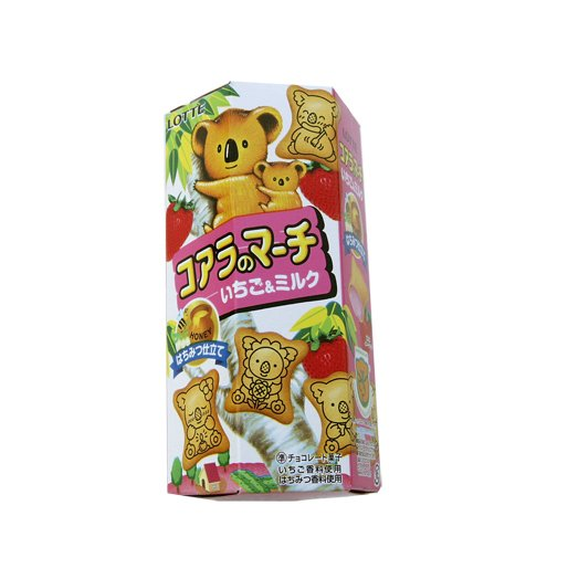 Lotte Koala Shaped Strawberry Filled Biscuits