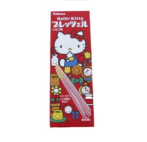 Kabaya Hello Kitty Strawberry Chocolate Covered Pretzel Sticks