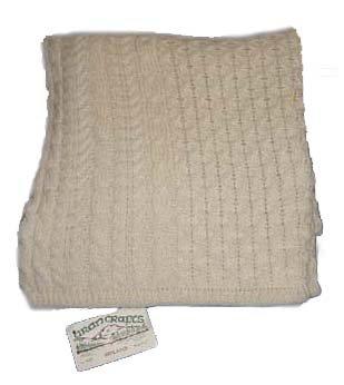 Knit Irish Wool Throw Blanket