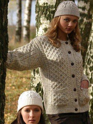 Size Small Irish Wool Fleck Button Down Cardigan