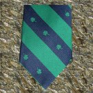Shamrock Stripes Irish Tie