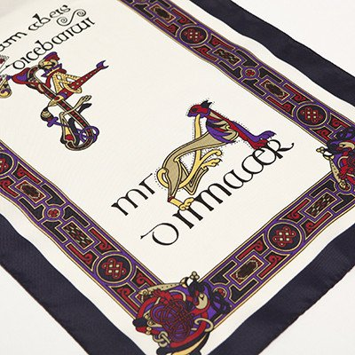 Book of Kells Long Navy Scarf