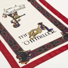 Wine Color Book of Kells Long Celtic Scarf