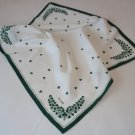 Square Shamrock Scarf in White