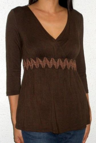 Ariel Smocked Tunic (brown)
