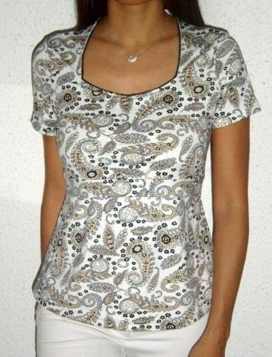 Morgan top � printed paisley
