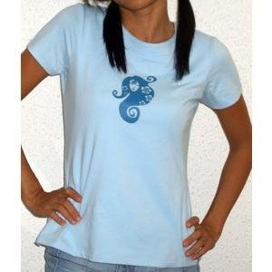 �Spring Nymph� tee (baby blue)