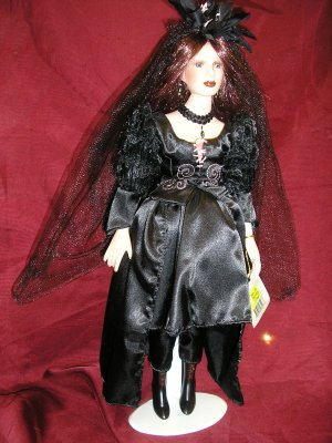 Raven GOTHIC BRIDE Porcelain Doll by SHOW-STOPPERS