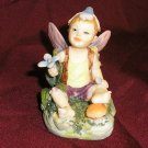 Cute LITTLE BOY FAIRY w/ FLOWER  Figurine GAY Interest