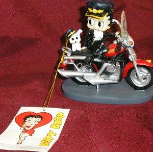 BETTY BOOP as BIKER CHICK Mini-Figurine HARLEY