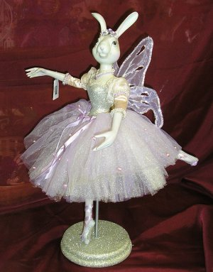 SILVER Ballerina Bunny KATHERINE'S COLLECTION Wayne Kelenski