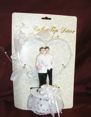 Gay Wedding GROOM/GROOM Same-Sex CAKE TOPPER